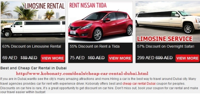 Dubai Deals And Discounts - Kobonaty